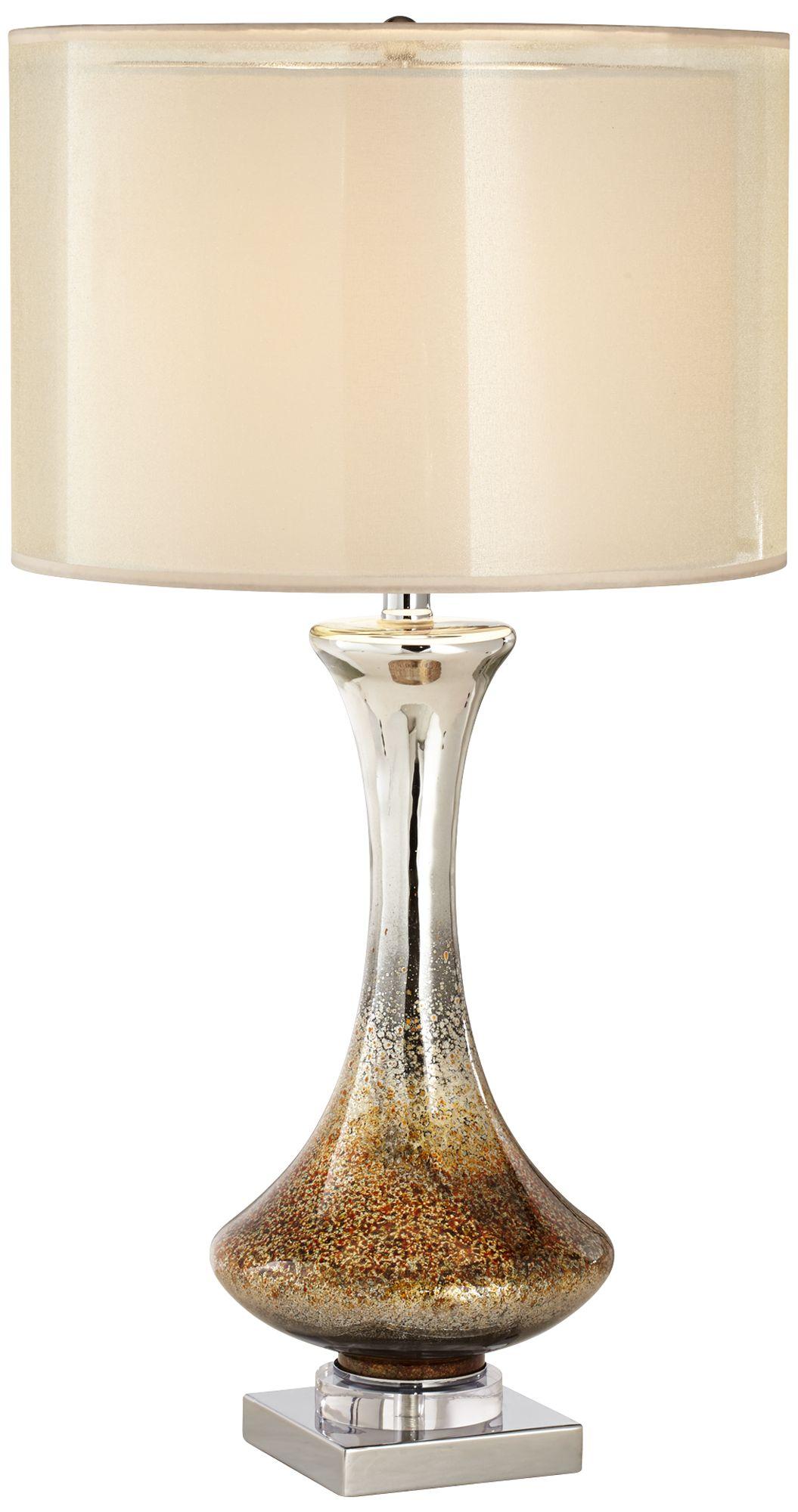 Etonnant Amber Mercury Glass Table Lamp