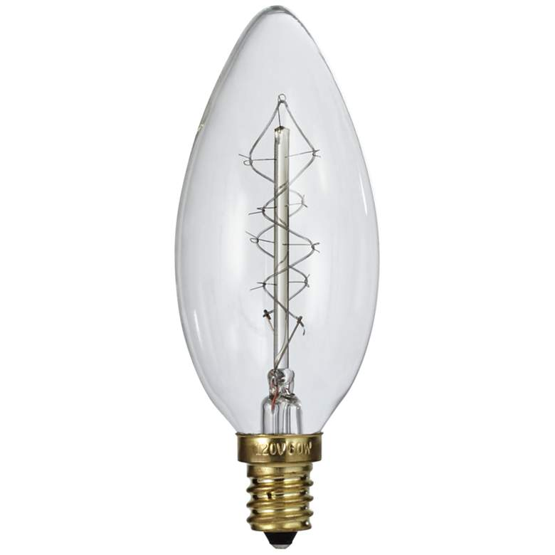 Tesler Clear 60 Watt Edison Style E12 Candelabra Light Bulb 7x541 Lamps Plus