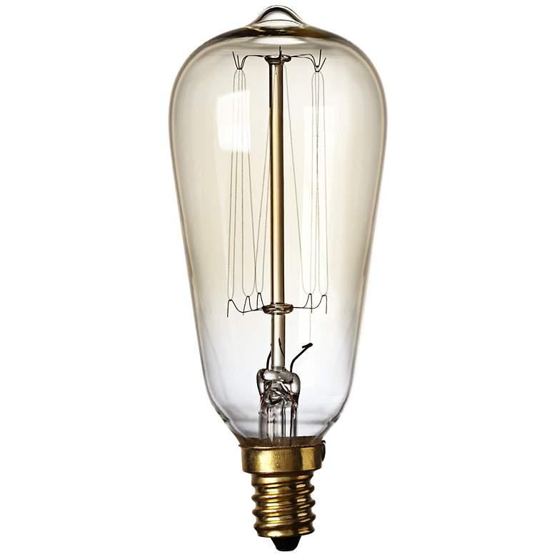 60 Watt Candelabra Light Bulbs: Nostalgic 60 Watt Candelabra Base Edison Style Light Bulb