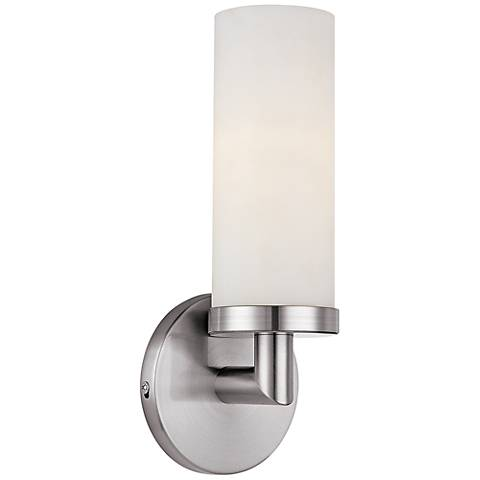 """Aqueous 12"""" High Brushed Steel Wall Sconce"""