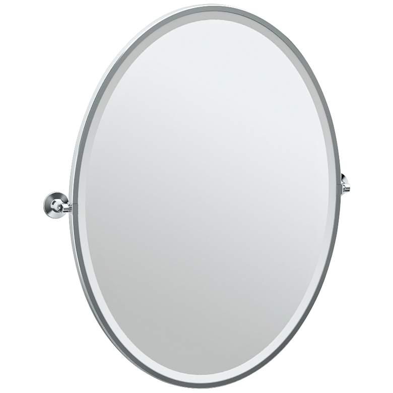 "Gatco Max Chrome 28 1/2"" x 33"" Oval Wall Mirror"