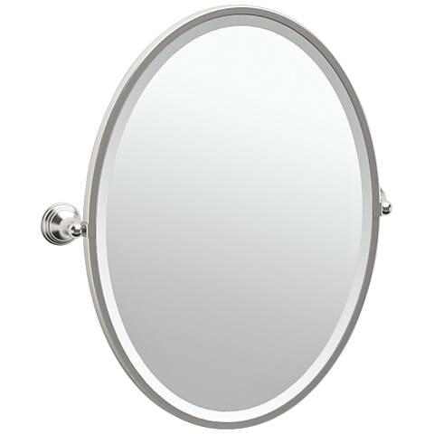 "Gatco Charlotte Satin Nickel 24 1/2"" x 27 1/2"" Wall Mirror"