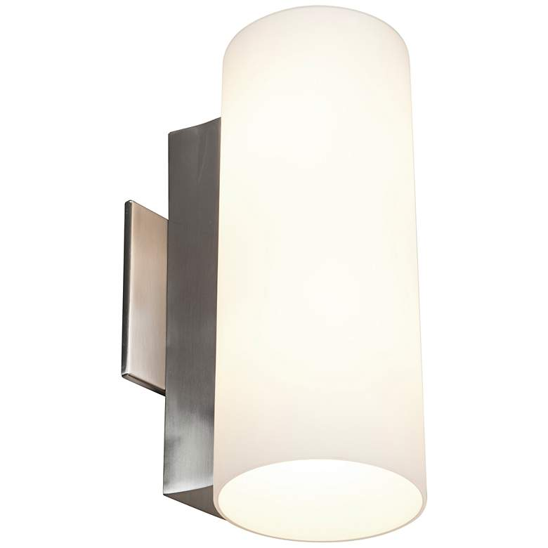 "Tabo 11 3/4"" High Brushed Steel Metal Wall Sconce"