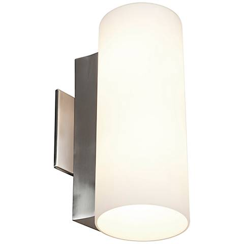 "Tabo 12"" High Brushed Steel Wall or Vanity Light"