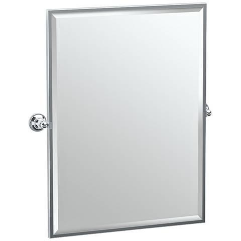 """Gatco Tiara Chrome 28 1/4"""" x 32 1/2"""" Wall Mirror"""