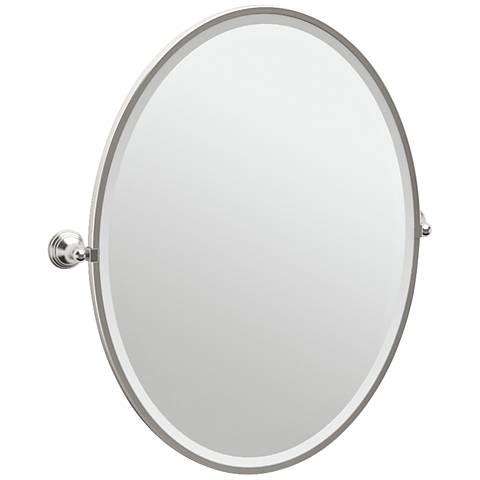 "Gatco Charlotte Satin Nickel 29"" x 33"" Large Wall Mirror"