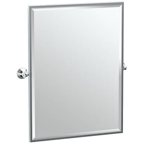 "Gatco Charlotte Chrome 28 1/2"" x 32 1/2"" Wall Mirror"