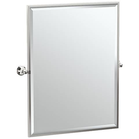 "Gatco Laurel Polished Nickel 28 3/4"" x 32 1/2"" Wall Mirror"