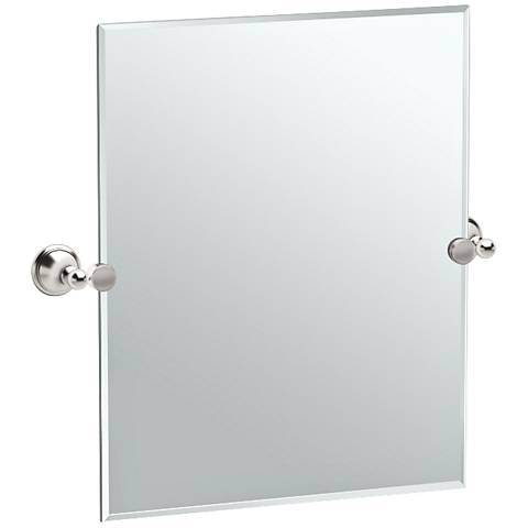 "Gatco Laurel Satin Nickel 24 3/4"" x 24"" Wall Mirror"