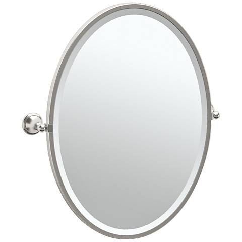 "Gatco Laurel Satin Nickel 24 1/2"" x 27 1/2"" Wall Mirror"
