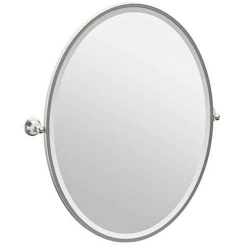 "Gatco Laurel Satin Nickel 28 3/4"" x 33"" Wall Mirror"