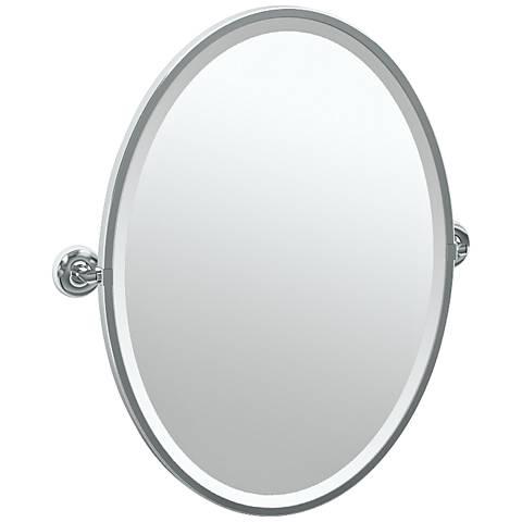 "Gatco Designer II Chrome 24 1/2"" x 27 1/2"" Oval Wall Mirror"