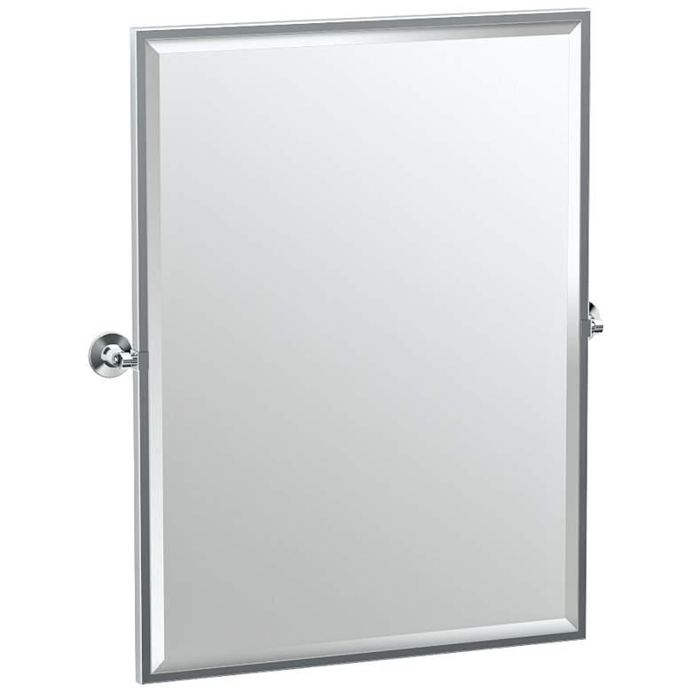 "Gatco Max Chrome 28"" x 32 1/2"" Rectangular Wall Mirror"