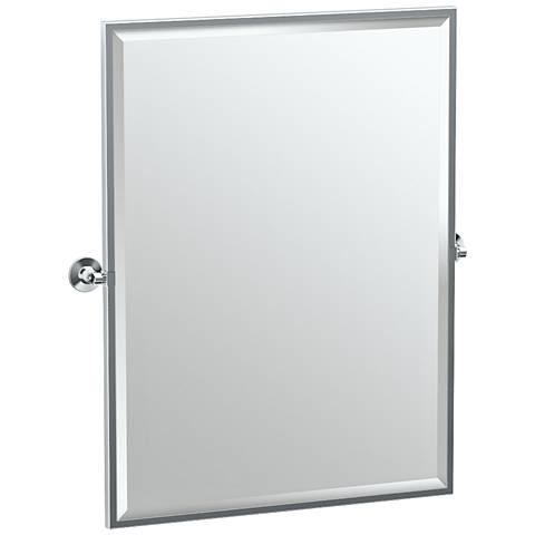 "Gatco Max Chrome 28"" x 32 1/2"" Large Wall Mirror"