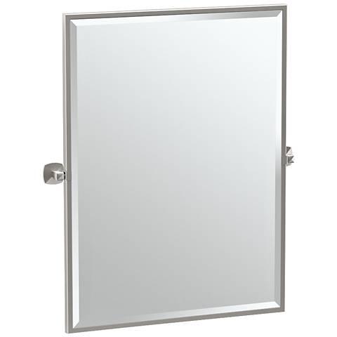 "Gatco Jewel Satin Nickel 28 1/2"" x 32 1/2"" Wall Mirror"