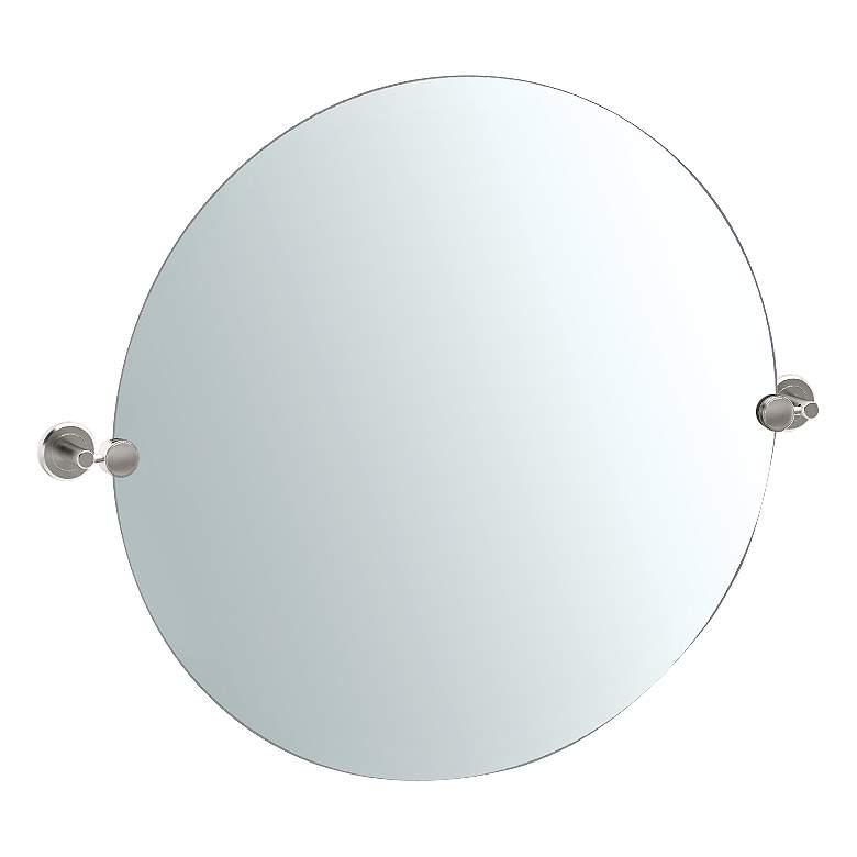 "Gatco Latitude II Satin Nickel 29 x 25"" Wall Mirror"