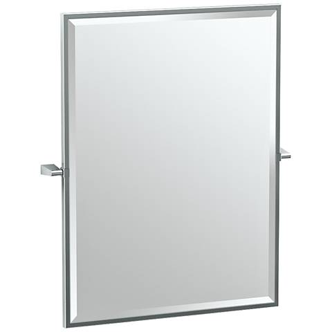 "Gatco Bleu Chrome 27 1/2"" x 32 1/2"" Rectangular Wall Mirror"