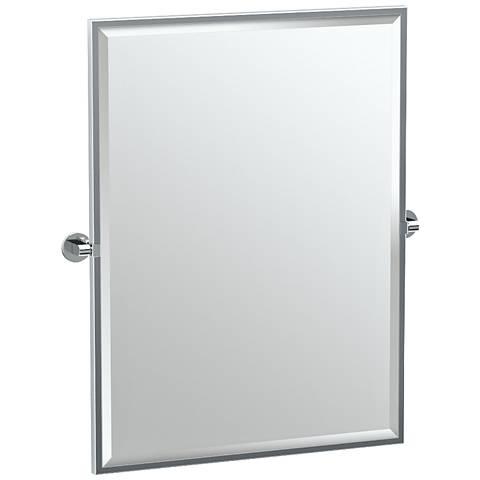 "Gatco Zone Chrome 28"" x 32 1/2"" Rectangle Wall Mirror"