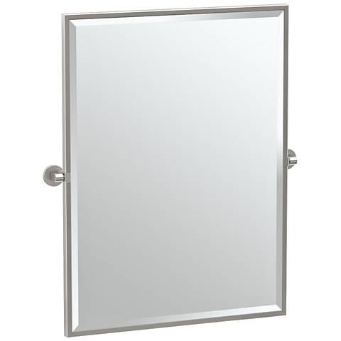 "Gatco Zone Satin Nickel 28"" x 32 1/2"" Wall Mirror"