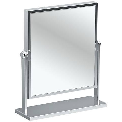 """Gatco Elegant Chrome 9 3/4"""" x 12"""" Table Mirror"""