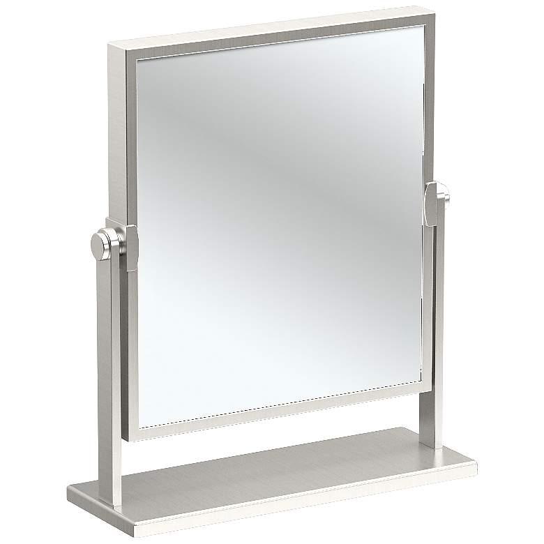 "Gatco Elegant Satin Nickel 9 3/4"" x 12"" Table Mirror"