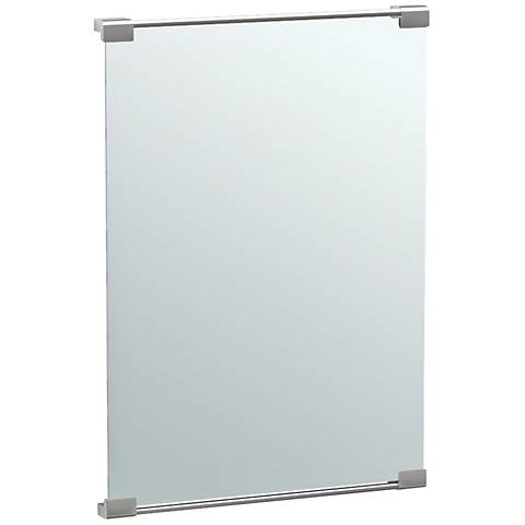 "Gatco Fixed Mount Satin Nickel 22"" x 31 1/2"" Vanity Mirror"