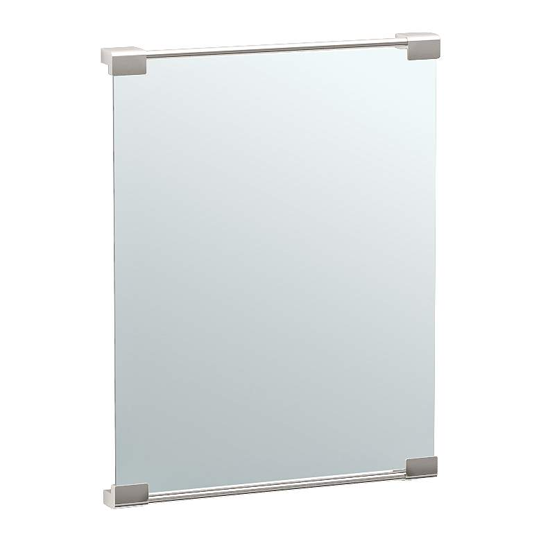"Gatco Fixed Mount Satin Nickel 19 1/2"" x 25 1/2"" Wall Mirror"
