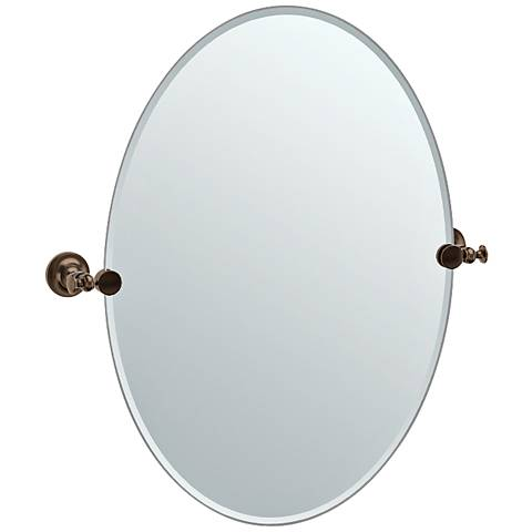 "Gatco Tavern Bronze 24"" x 26 1/2"" Oval Vanity Mirror"