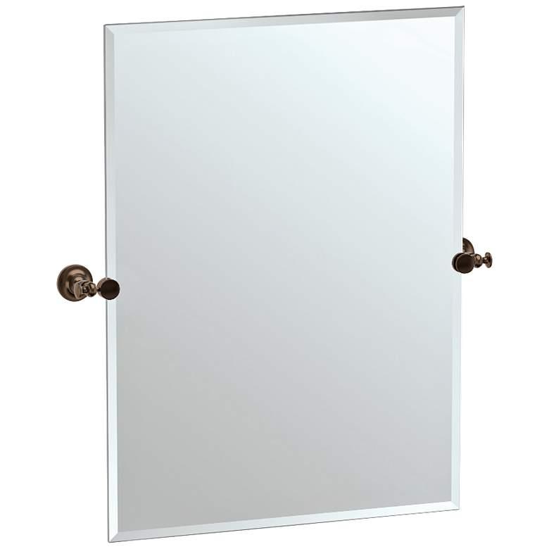 "Gatco Tavern Bronze 28"" x 31 1/2"" Rectangular Vanity Mirror"