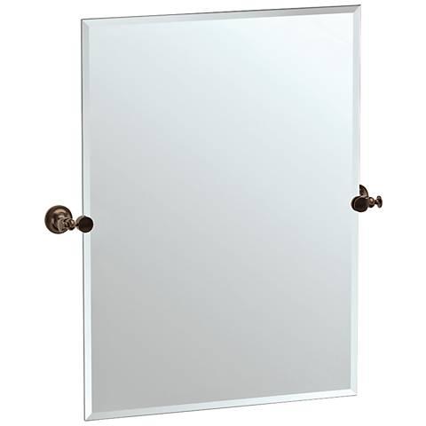 """Gatco Tavern Bronze 28"""" x 31 1/2"""" Rectangle Vanity Mirror"""