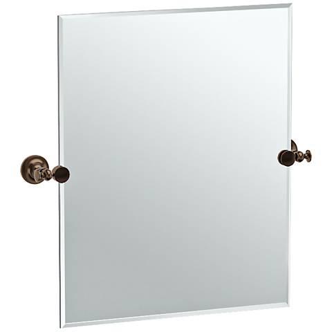 """Gatco Tavern Bronze 23 1/2"""" x 24"""" Rectangle Vanity Mirror"""