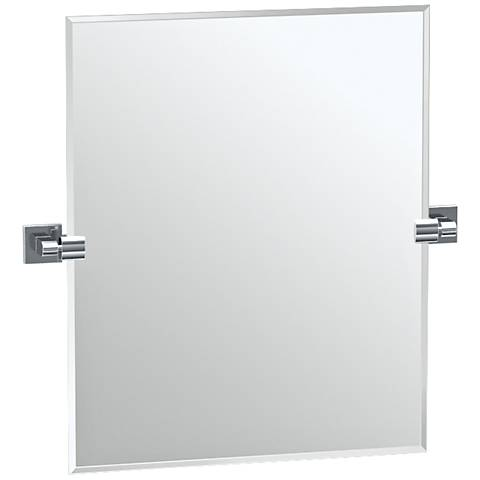 "Gatco Elevate Chrome 23 1/2"" x 24"" Rectangle Vanity Mirror"