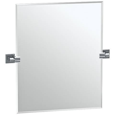 "Gatco Elevate Satin Nickel 23 1/2"" x 24"" Vanity Mirror"