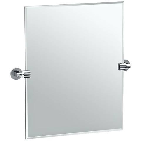 """Gatco Zone Chrome 23 3/4"""" x 24"""" Rectangle Vanity Mirror"""