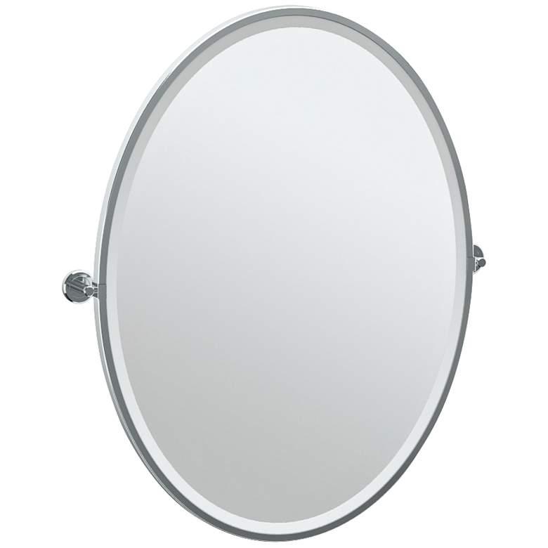 "Gatco Latitude II Chrome 28 1/4"" x 33"" Vanity Wall Mirror"