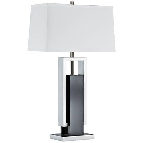 Nova Extender Dark Brown and Brushed Nickel Table Lamp