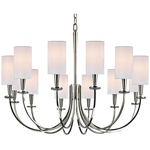 "Hudson Valley Mason 34 1/2"" Wide Polished Nickel Chandelier"