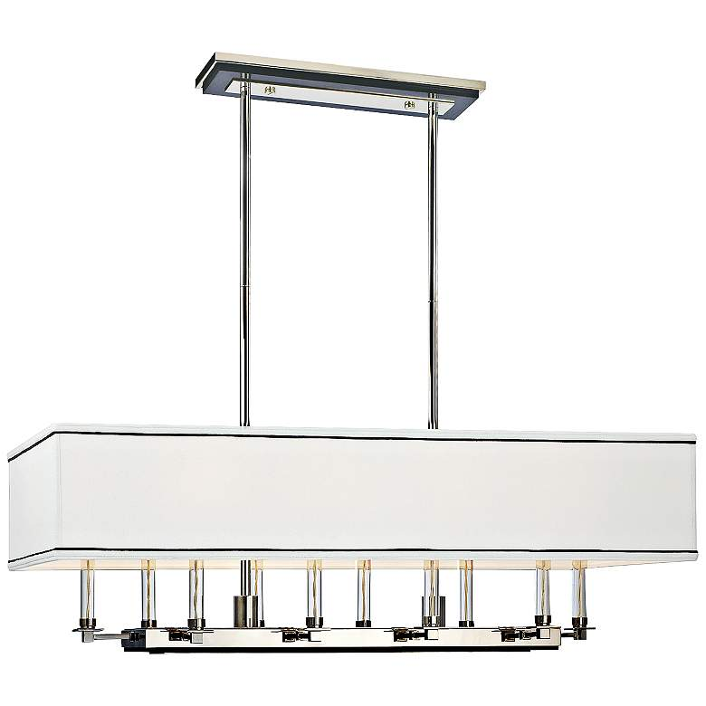 "Collins 38""W Polished Nickel Kitchen Island Light Pendant"