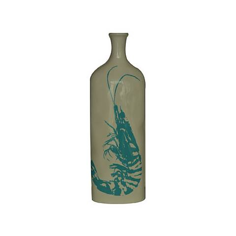 "Crestview Medium Lobster 15 1/2"" High Ceramic Vase"