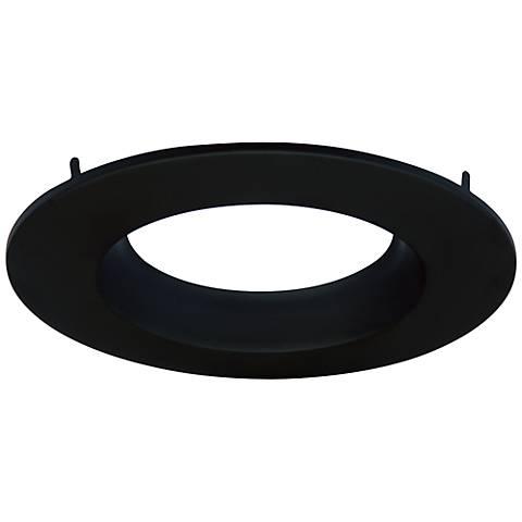"Cyber Tech 6"" Recessed Light Round Trim in Black"