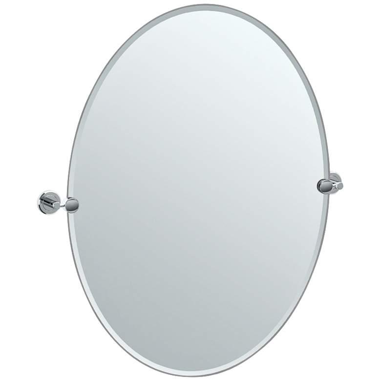 """Gatco Latitude II Chrome 28 1/2"""" x 32"""" Oval Vanity Mirror"""