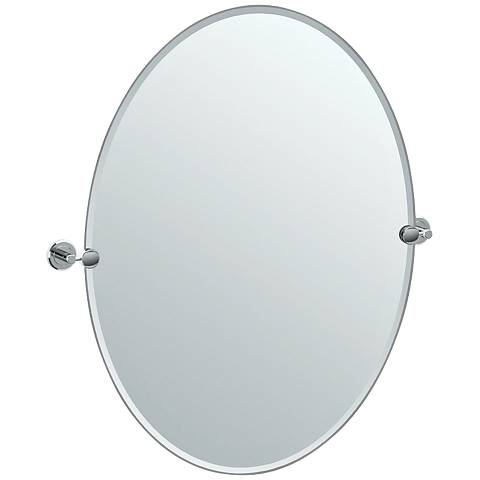 "Gatco Latitude II Chrome 28 1/2"" x 32"" Oval Vanity Mirror"