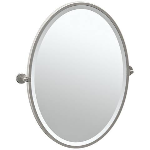 "Gatco Latitude II Satin Nickel 23 3/4"" x 27 1/2"" Mirror"