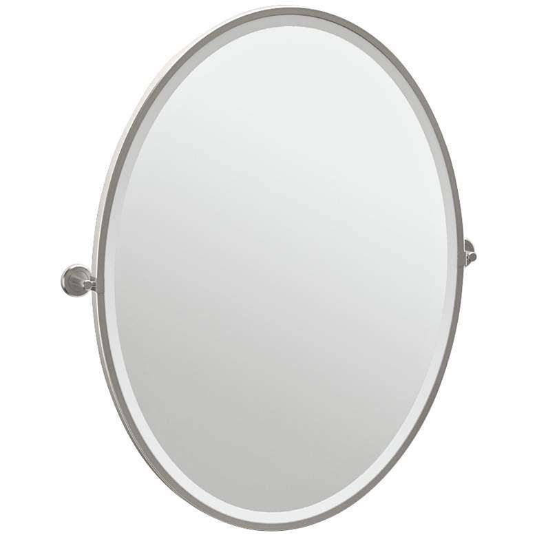 "Gatco Latitude II Satin Nickel 28 1/4"" x 33"" Vanity Mirror"