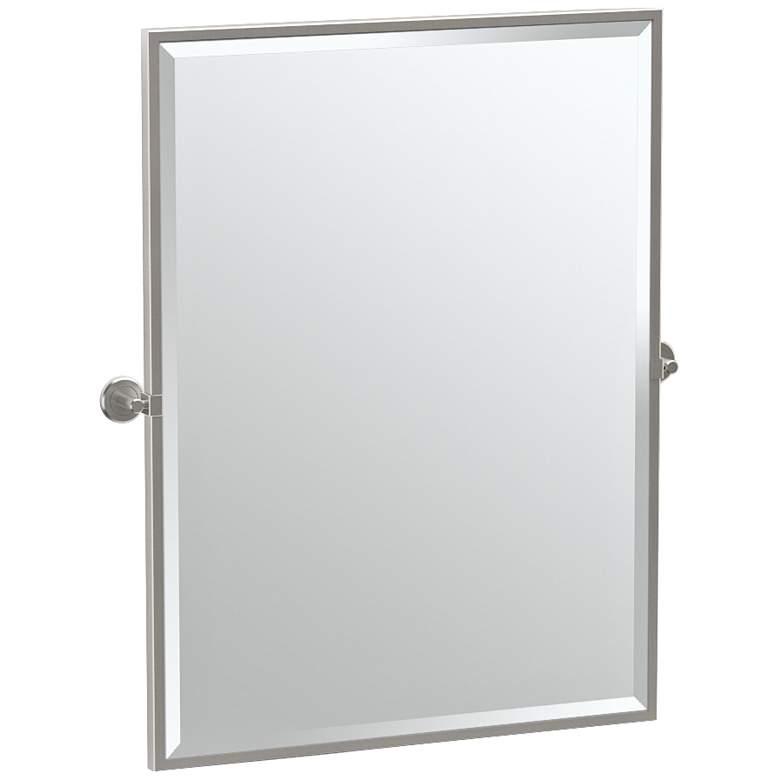 "Gatco Latitude II Satin Nickel 27 3/4"" x 32 1/2"" Wall Mirror"