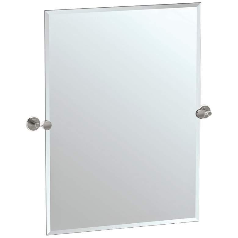 "Gatco Latitude II Satin Nickel 27 1/2"" x 31 1/2"" Wall Mirror"