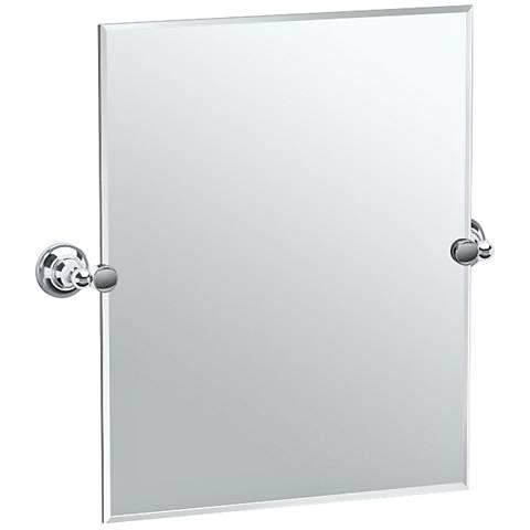 """Gatco Tiara Chrome 24 3/4"""" x 24"""" Vanity Mirror"""