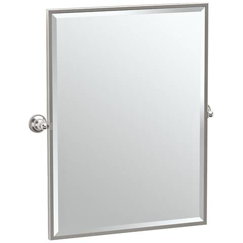 "Gatco Tiara Satin Nickel 28 1/4"" x 32 1/2"" Vanity Mirror"
