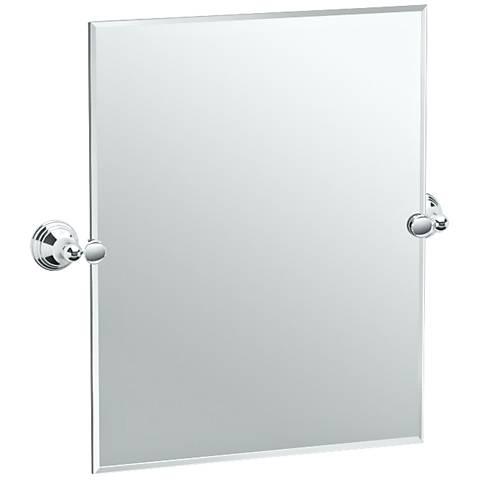 "Gatco Charlotte Chrome 24 1/4"" x 24"" Small Vanity Mirror"
