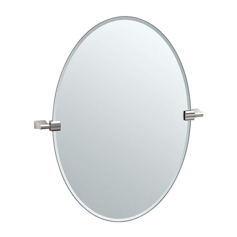 "Gatco Bleu Satin Nickel 23 1/2"" x 26 1/2"" Vanity Wall Mirror"